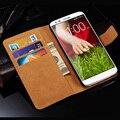 Carteira caso de couro da aleta para lg g2 optimus d802 d801 ls980 telefone saco de design suporte + slot para cartão de volta casos capa para lg g2 Coque