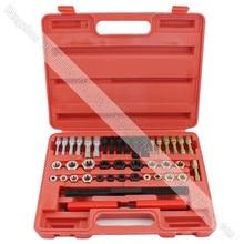 Re rosqueamento conjunto de ferramentas torneiras & dados ferramenta de reparo de rosca danificada ferramenta de reparação de rosca