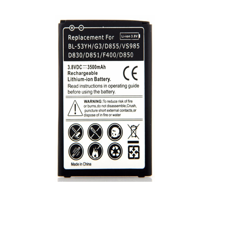 New BL-53YH For <font><b>LG</b></font> <font><b>G3</b></font> 3500mAh Phone Replacement <font><b>Battery</b></font> For <font><b>LG</b></font> <font><b>G3</b></font> <font><b>D855</b></font> VS985 D830 D851 F400 D850 Moblie Cell Phone <font><b>battery</b></font>