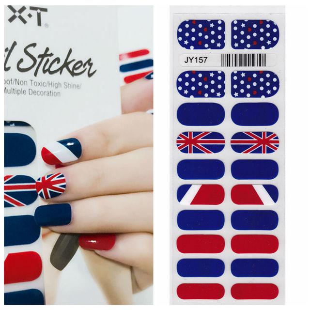Xt Xt Nail Polish Strips British Flag Waterproof Non Toxic Nail