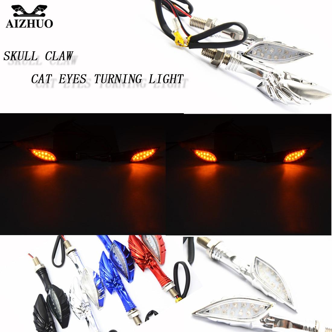 Motorcycle LED Turn Signal Indicators Light Flashing Motorbike Amber Blinker Lamp Transparent Lense Fit 17v Motorcycle Motorbike