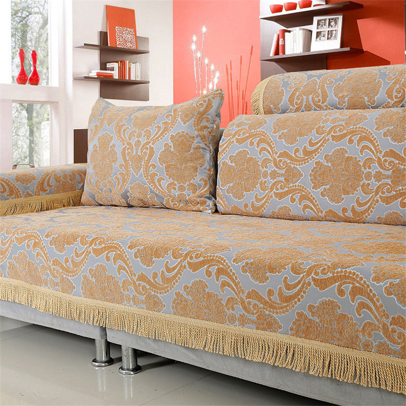 Aliexpress Com European Chenille Flocked Jacquard Sectional : sectional sofa throws - Sectionals, Sofas & Couches