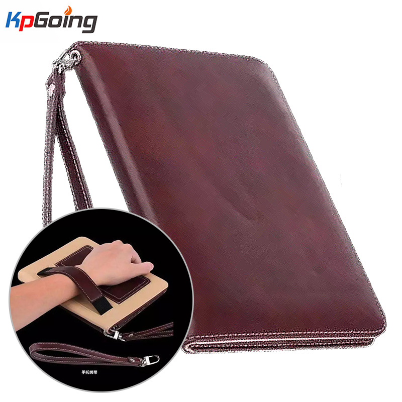 Luxury Lanyard Card Business Pu Leather Cover for Ipad Pro 9.7 Handhold Case for Ipad Pro 9.7 Inch Flip Stand Tablets Case flip left and right stand pu leather case cover for blu vivo air