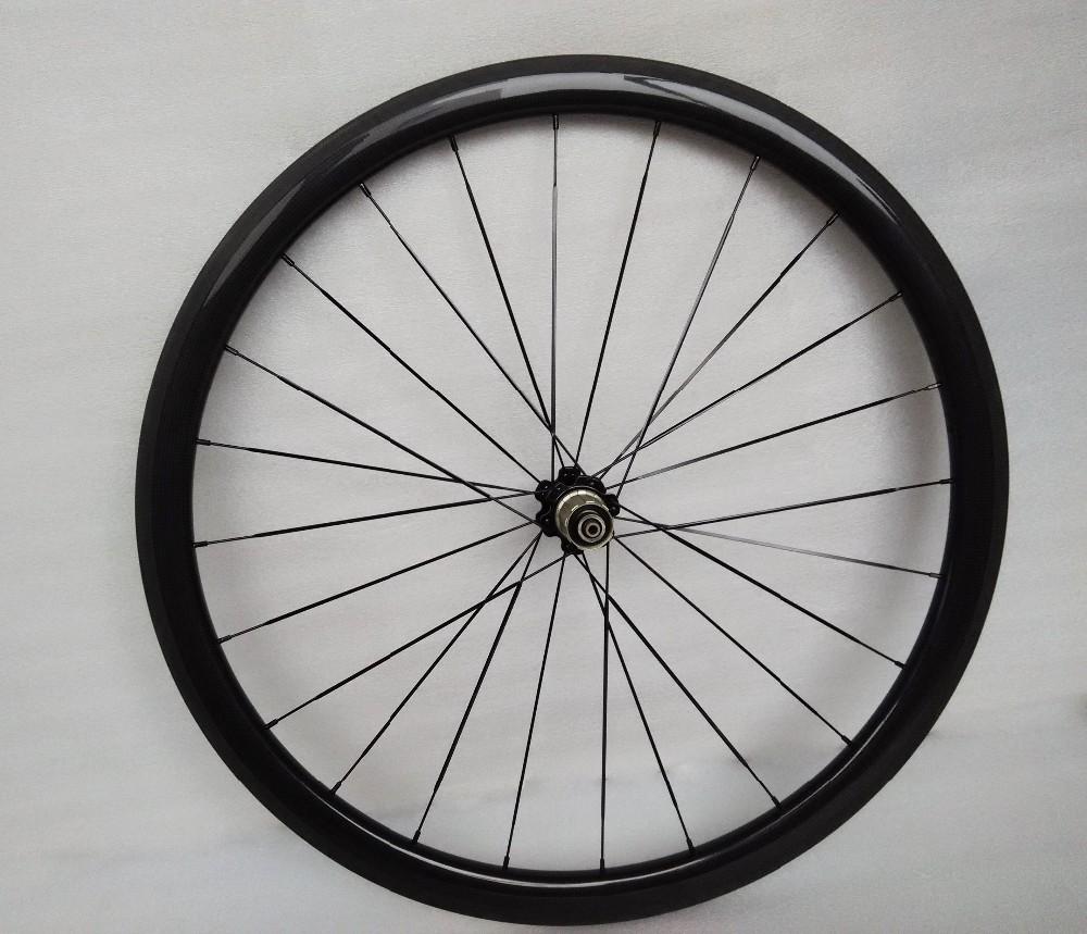 carbon wheels clincher 38mm 700C road bike clincher 38mm 3k glossy  black wheelset (11)