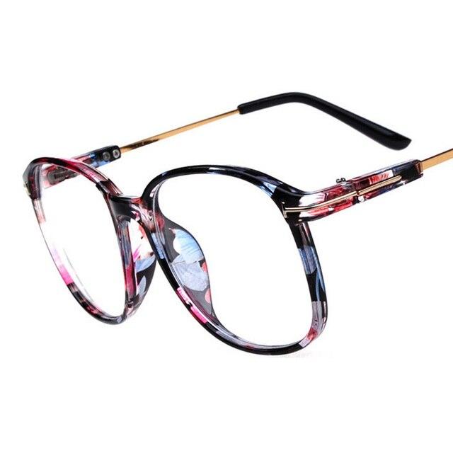 2018 Optical Plain Mirror Full frame Eyeglasses Frames Men Women Big ...