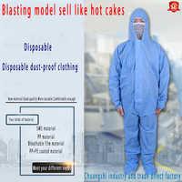 Schutz kleidung Weiß Blau Insgesamt Schutzanzug Anzug Für Malerei Dekorieren Kleidung Arbeit Sicherheit ClothingL/XL/XXL/ XXX
