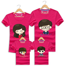 Family Clothing Cotton T Shirt Short Sleeve Cartoon Tees Family Look Mother Daughter Father Son Casual Tops Family Matching Sets