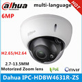 Ip-камера Dahua с вариофокальным моторизованным объективом 2,7 мм ~ 13,5 мм, 6 МП, IR50M, со слотом для sd-карты, сетевая камера POE