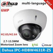 Dahua IPC HDBW4631R ZS IP Camera 2.7mm ~13.5mm varifocal motorized lens 6MP IR50M with sd Card slot POE network camera