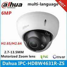 Ip камера Dahua с вариофокальным моторизованным объективом 2,7 мм ~ 13,5 мм, 6 МП, IR50M, со слотом для sd карты, сетевая камера POE