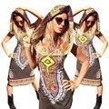 Женщины Африканских Одежды Продвижение Халат Africaine Продажи Нейлон Спандекс Африканские Платья 2016 Новый Сексуальный Стиль Женской Одежды