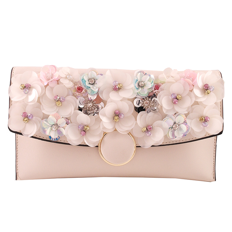 Women Bag chain Embroidery Design Handbag Flower Bag Floral Tote Ladies Evening Strap Bags Colorful Female Messenger Bags Sac