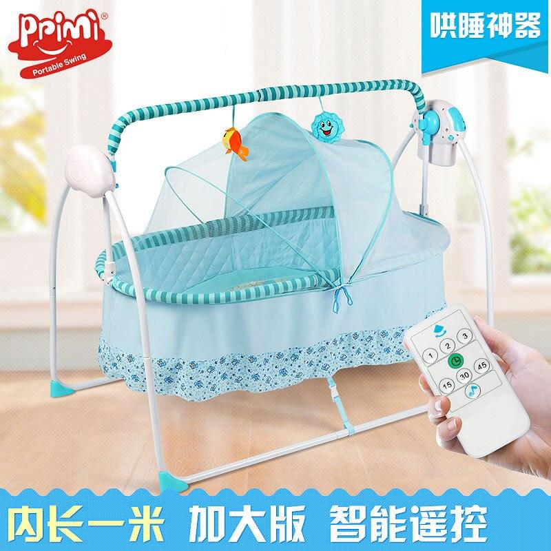 Electric Cradle Bed Crib Sleeping Basket Baby Shake Bed Newborn Automatic Intelligent Small Shaking Nest Basket
