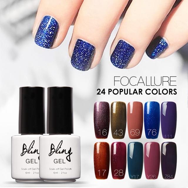 FOCOCALLURE BILING Color Gel Paint 6ml Nail Art Design Best Quality ...