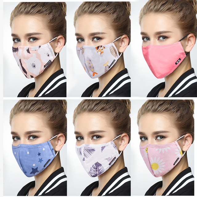 2909b70a0 Korean Style Winter Mask On Face FN95 Anti dust Mouth Mask With Carbon  Filter Anti PM2.5 Flu Running medical Fabric Face Mask