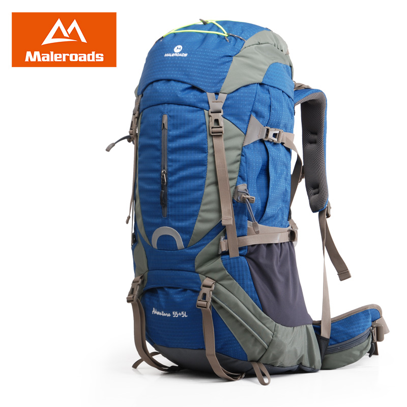 Maleroads 55 5L 60L Large Camping Hiking Backpack Travel Mochilas Waterproof Outdoor Gear Climbing Bags Pack