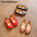 2017 spring new kids shoes leather elastic Fashion Korean version of the British style shoes cute flat shoes girls princess
