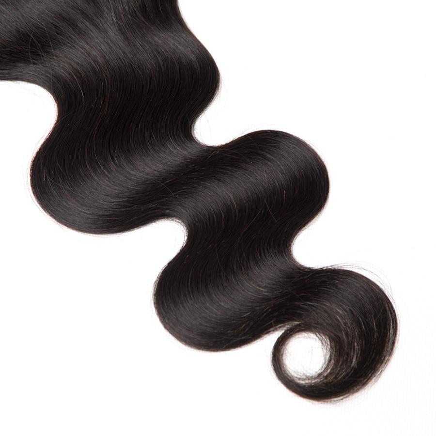 6x6 lace closure braziliaanse body wave vetersluiting menselijk haar - Mensenhaar (voor zwart) - Foto 4