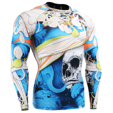 Mens Beae New Compression Shirts 3d Print Original Style Long Sleeves MMA Crossfit Tops Rushguard Male