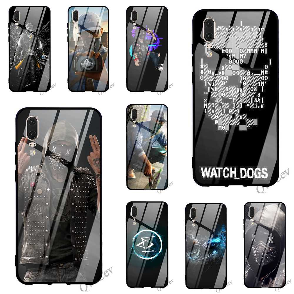 Print <font><b>Watch</b></font> Dogs Wrench Tempered Glass Phone Cover for <font><b>Huawei</b></font> Mate 20 Case P <font><b>Smart</b></font> <font><b>P20</b></font> <font><b>Pro</b></font> 10 7A Y6 Y9 Honor 9 P10 Lite TPU image