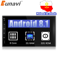 Eunavi 2 Din Octa core 7'' Android 8.1 2din New Universal Car Radio Double din Stereo GPS Navigation In Dash Pc Video WIFI USB