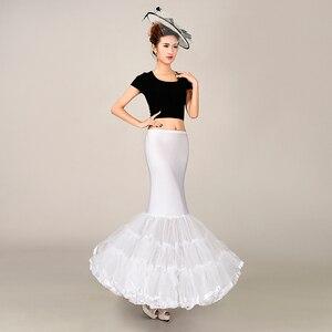 Image 3 - 탄성 패브릭 큰 fishtail 치마 인어 트럼펫 스타일 웨딩 드레스 페티코트 crinoline 슬립