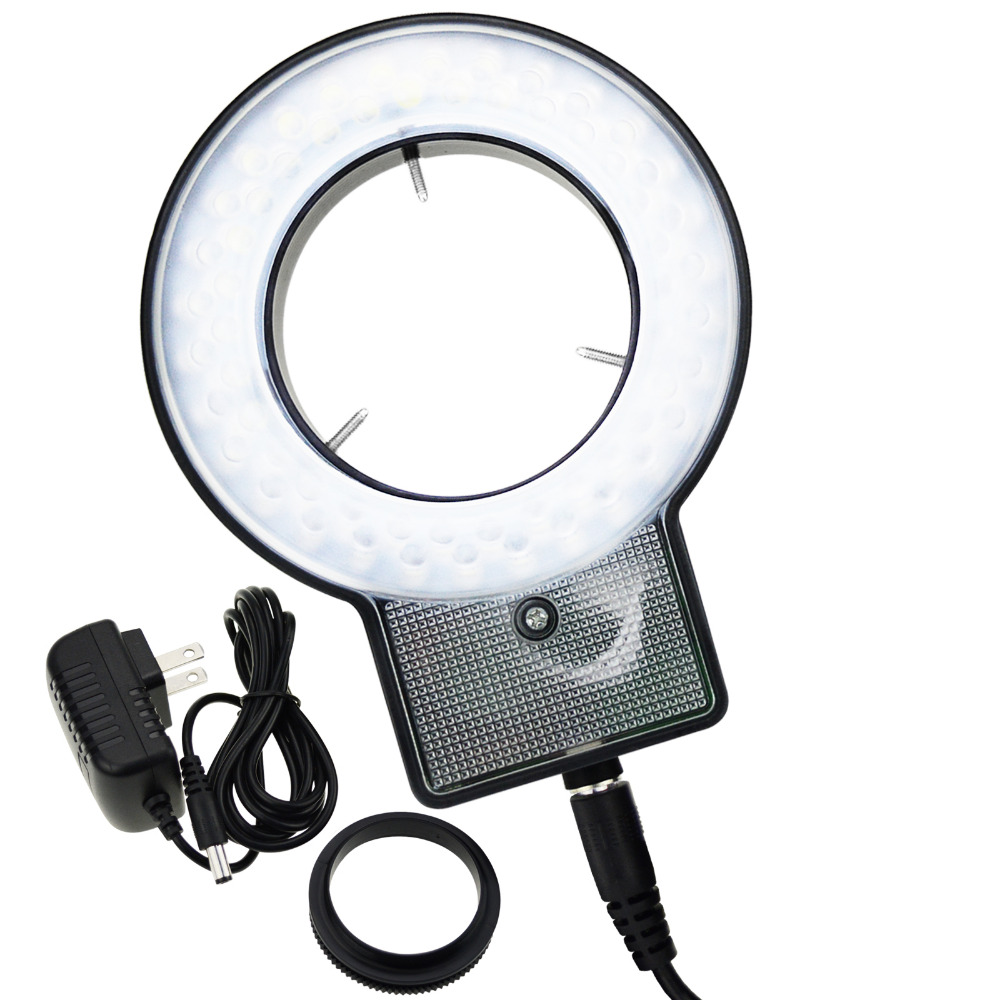 Ring Light Microscope with 4-Zone Quadrant Control 60 LED 40~60mm Diameter Mount Ring and 8 Adjustable Brightness Level led ring light for microscope sz 8 free shipping cost