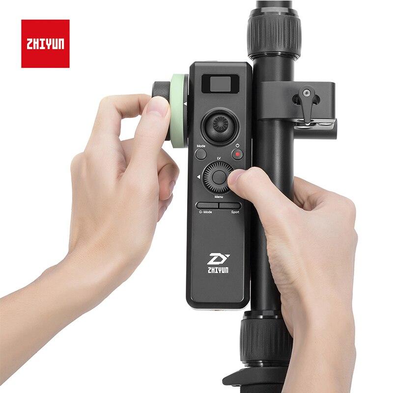 ZHIYUN Oficial Acessórios de Controle De Sensor De Movimento com Follow Focus 2.4G 2 Parâmetros Na Tela OLED de Controle Sem Fio para o Guindaste