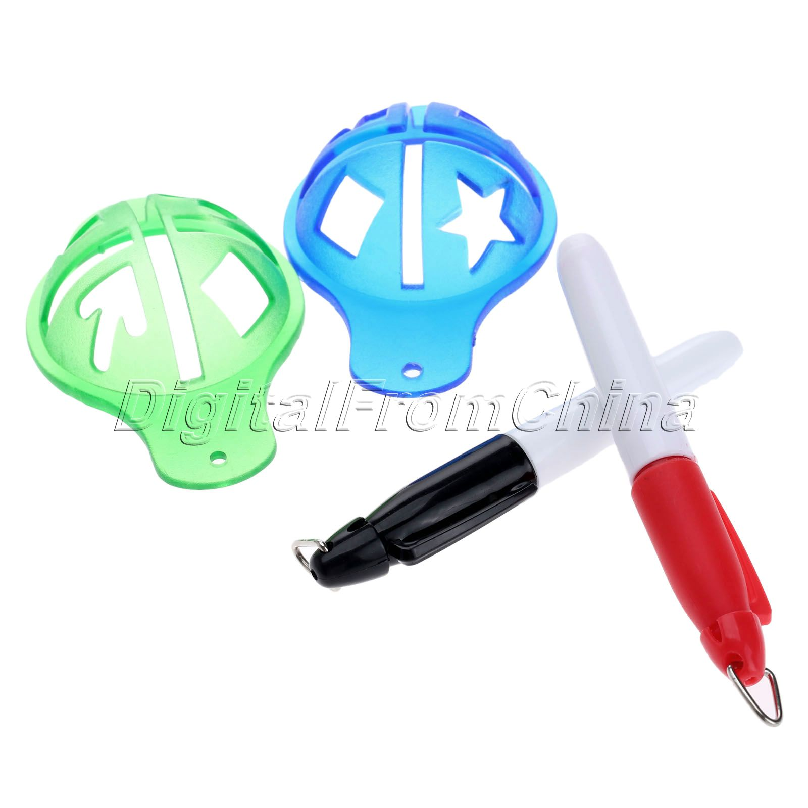gohantee Golf Ball Liner Marcator Pen Ball Strokes Golf Formare SIDA - Golf - Fotografie 2