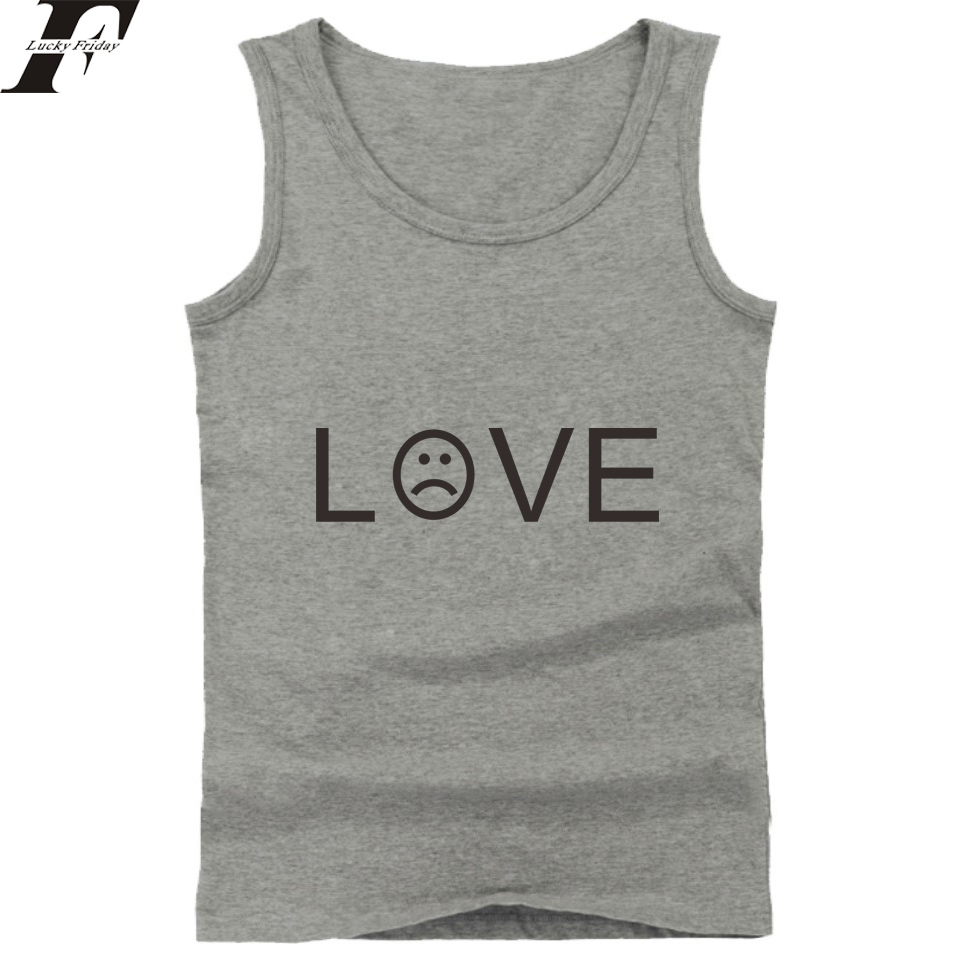 LUCKYFRIDAYF 2018 Lil Peep R.I.P Hip Hop Tank Tops Men/Women Summer Sleeveless Workout Fashion Tank Top Men Casual Vests