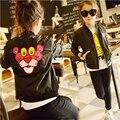 Tigre Carácter Adolescente Niñas Chaquetas y Abrigos de Primavera 2016 Nuevas Muchachas de Los Cabritos Ropa Casual Top Girls Outfit Ropa de Manga Larga