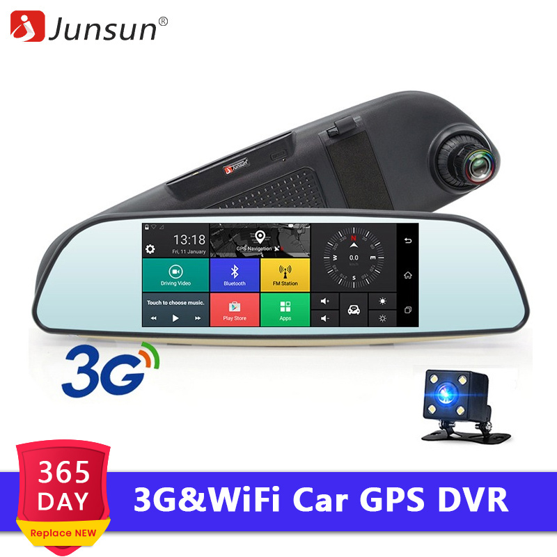 Junsun Car-Dvr-Mirror Video-Recorder Remote-Monitor Gps-Navigator Dash-Cam Rear-View-Camera