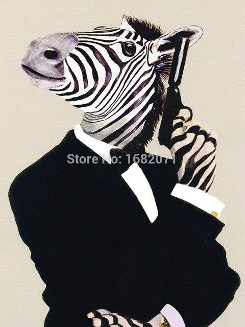 Pistol zebra schilderijen handgemaakte muurschildering foto op pistol zebra schilderijen handgemaakte muurschildering foto op canvas abstract decor dieren cool paard olieverf hang pictures thecheapjerseys Gallery