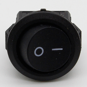 Image 4 - 5* Small Round Black 2 Pin 2 Files 3A/250V 6A/125V Rocker Switch Seesaw Power Switch