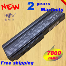 HSW 7800mAH Laptop Battery for Asus N53S M50s N53SV A32 X64 A33 M50 A32 N61 A32 M50