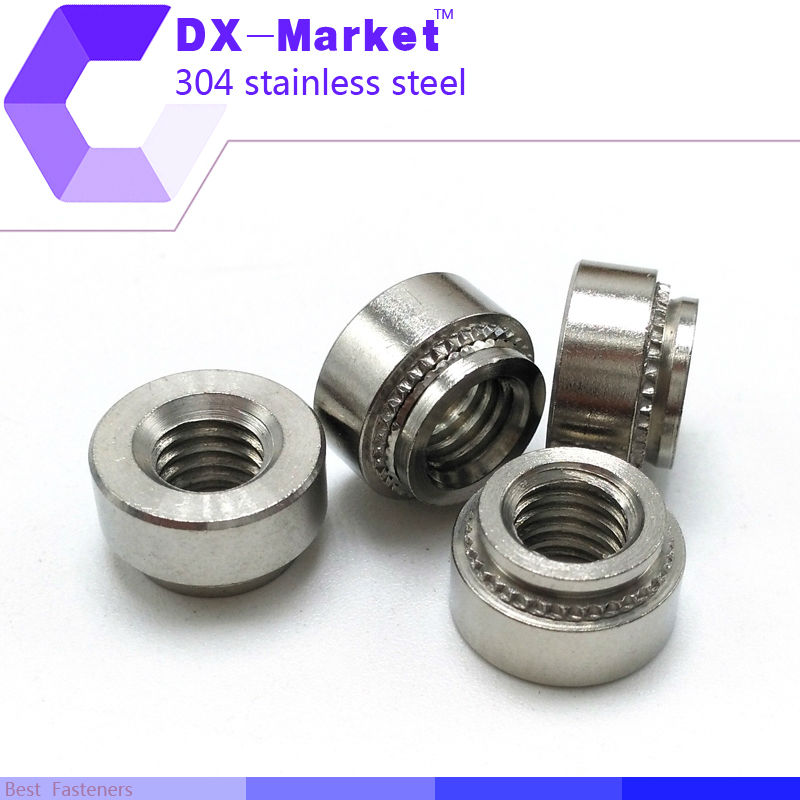304 Stainless Steel Higher Head self-clinching Round Panel nut,Avlock Clinch Nut 100pcs Nuts m3-0