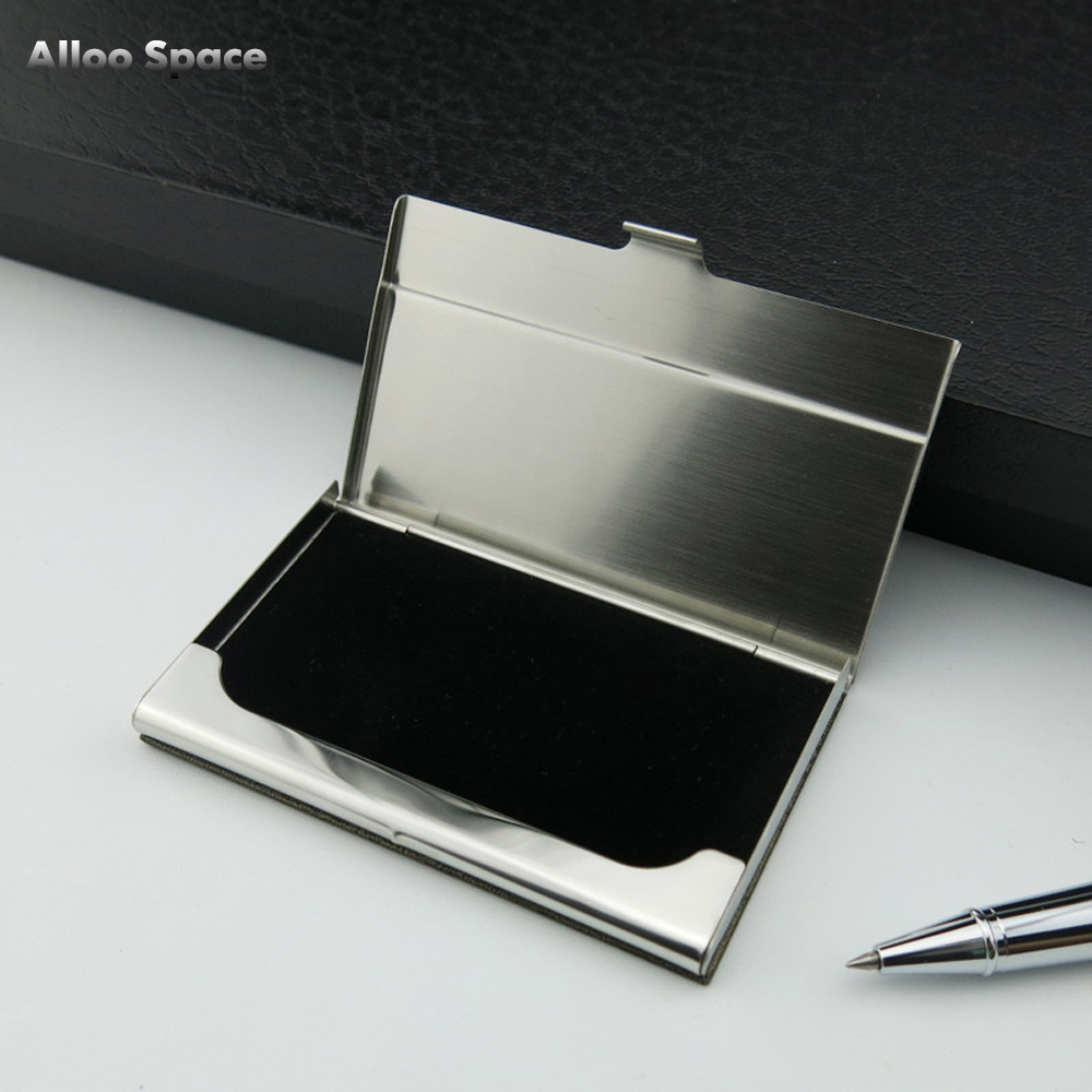 Alloo Space Creative Stainless Steel Business Card Holder Pocket ...