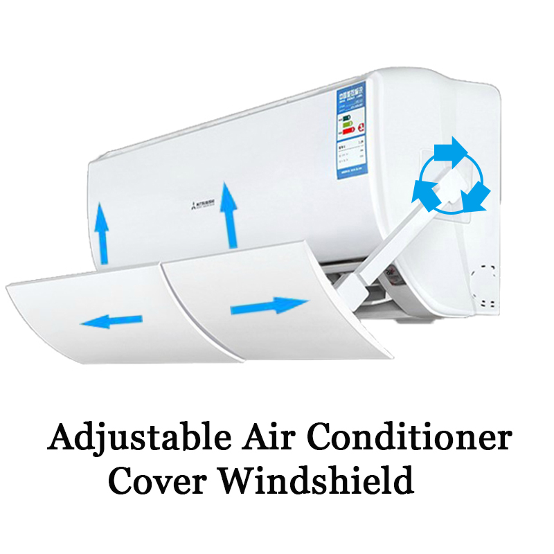 Adjustable Air Conditioner Cover Windshield Air Conditioning Deflector Baffle Shield Wind Guide Month Straight Anti-wind Shield