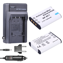 2x bateria np BY1 NPBY1 NP-BY1 battery + Car charger + EU Adapter for Sony HDR-AS100v HDR-AZ1 AZ1VR AZ1VB AZ1VW Video Camera DV