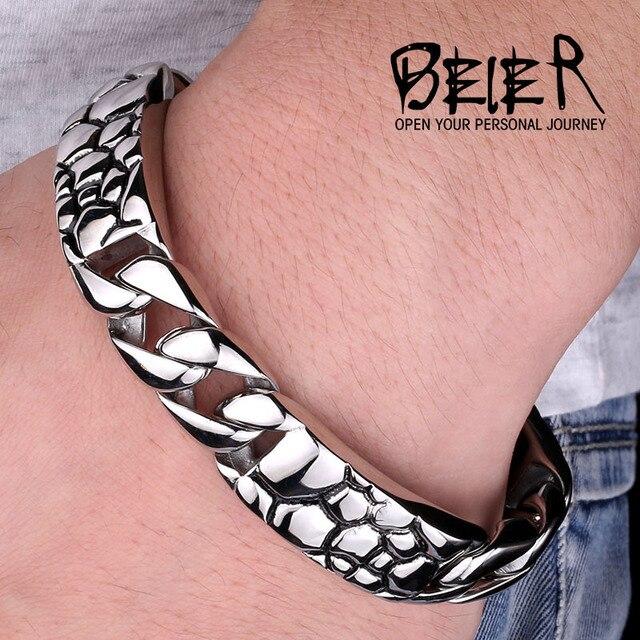 13 торговля ювелирные изделия titanium сталь мужской и женский шаблон изогнутый кусок камня браслет смешанные партии BC4103