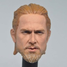Collection 1/6 Scale Male Head Scuplt Model Sons of Anarchy Charlie Hunnam Carved for 12 inches Action Figure Body toy