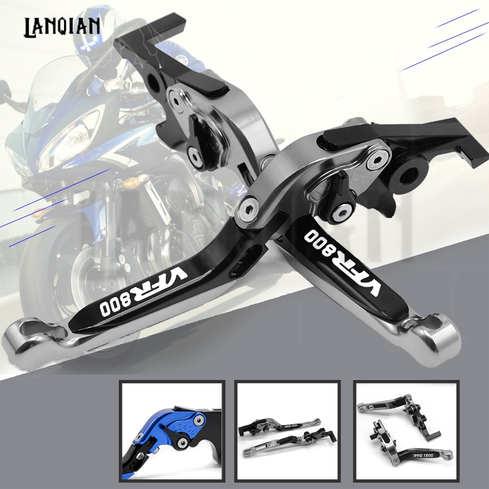 CNC Motorcycle Accessories Adjustable Folding Extendable Brake Clutch Lever For Honda VFR800 1998-2001 2002 2003 2004
