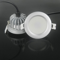 4 unids/lote sin conductor regulable 5W7W/9W10W/12 W/15 W lámpara de la sala de ducha AC220V IP65 downlight para bathroon/downlight llevado al aire libre