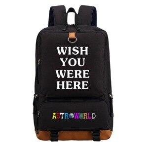 Image 1 - WISHOT   Travis Scotts ASTROWORLD  Backpack Shoulder travel School Bag Bookbag for teenagers men women  Casual Laptop Bags