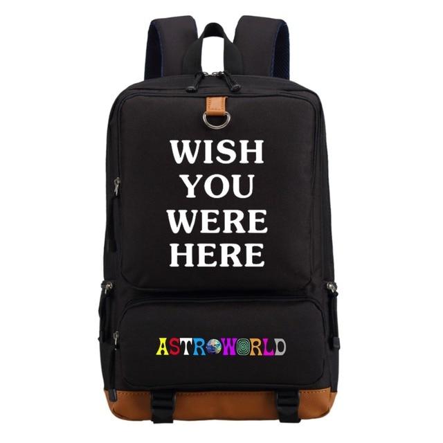 WISHOT   Travis Scotts ASTROWORLD  Backpack Shoulder travel School Bag Bookbag for teenagers men women  Casual Laptop Bags