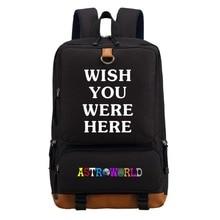 WISHOT Travis Scotts ASTROWORLD sac à dos épaule voyage sac décole Bookbag pour adolescents hommes femmes sacs dordinateur portable occasionnels