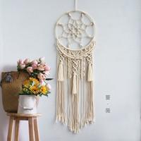 Macrame Dream Catcher Tapestry Handmade Cotton Rope Weaving Living Room Bedroom Ornaments B&B Decoration Bohemian Wall Hanging