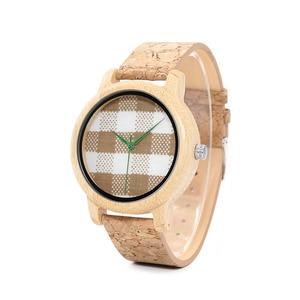 Image 3 - BOBO BIRD WA28 Vintage Round Ladies Bamboo Wood Quartz Watches With Fabric Dial Women Watches Top Brand Pastoralism Watch