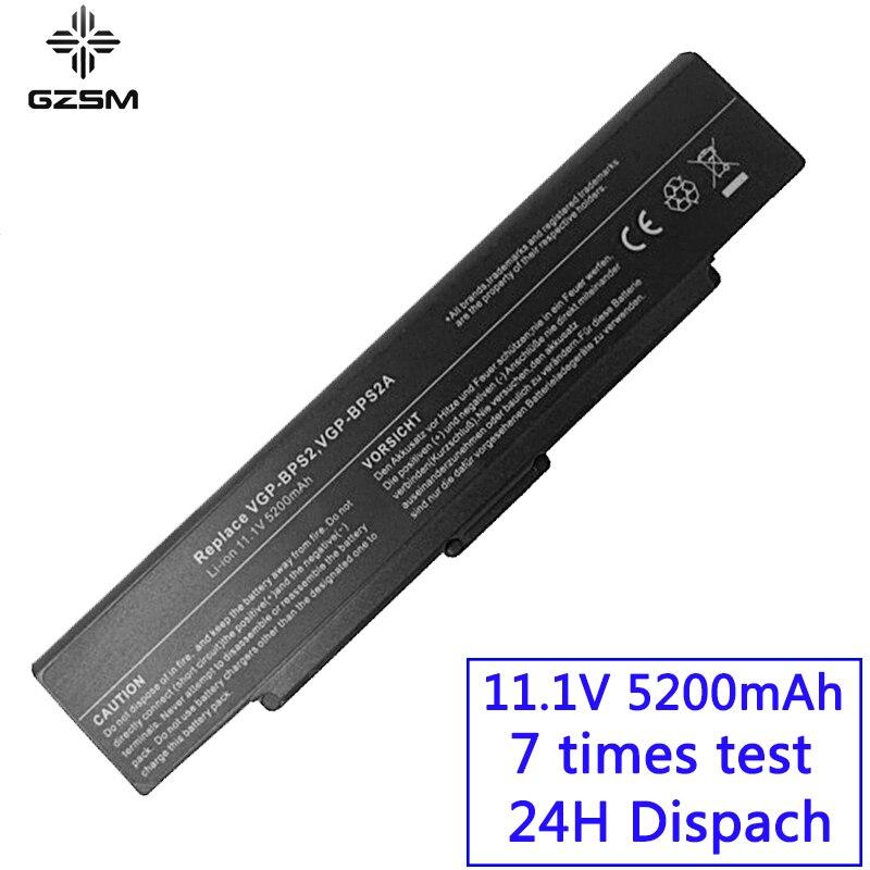GZSM Laptop Battery VGP-BPS2 For SONY VGP-BPS2A VGP-BPS2B  VGP-BPS2C VGP-BPL2 VGP-BPL2C VGP-BPS2.CE7 VGP-BPL2.CE7 Battery