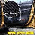 Interior do carro Porta Protetor Adesivo Filme De Fibra de Carbono Tampa Do Tapete Para A Qashqai j11 2016 Acessórios Qashqai 2014 2015 2016